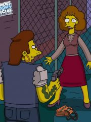The Simpsons – Snake and Maude