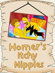 Homer's Itchy Nipples – Art by DrawnSex