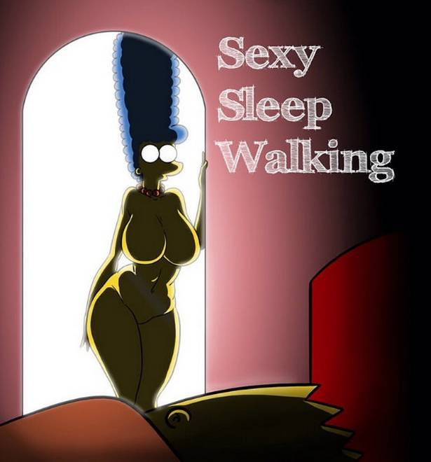 Sexy sleep walking - simpsons xxx