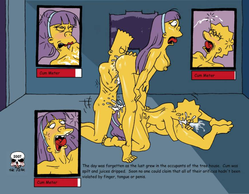 comics porn Marge simpson fear